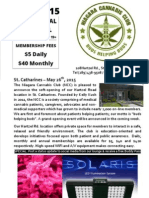 Niagara Cannabis Club June 2015 Newsletter
