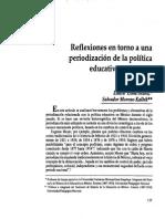 Reflexiones en Torno a Una Periodización de La Política Educativa en México