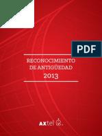 Anuario Antiguedad AXTEL 2013
