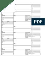 Nursing Report Sheet 3 Pt Vertical