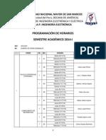Horario Del Semestre Academico 2014-i