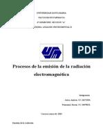Proceso de Emision de La Radiacion Electromagnetica
