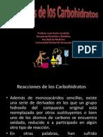 Reacciones de Los Carbohidratos.