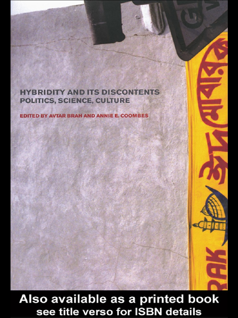 Avtar B, Coombes A Edts Hybridity And Its Discontents Politics Culture  Science  Ethnicity, Race & Gender  Race (human Categorization)