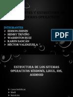 Componentes y Estructura de Los Sistemas Operativos. Taller # 3 -- N4J