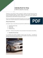 Analysing Road Car Drag