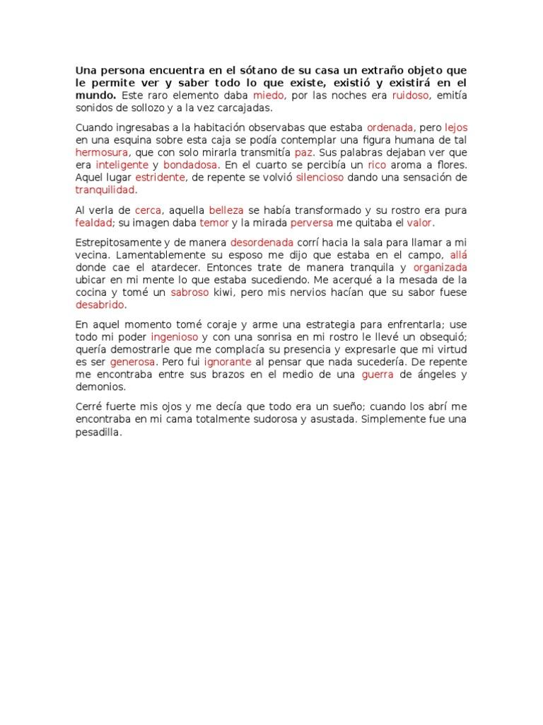 El Cuento de Sinonimos y Antonimos - photo#16