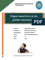 7 Etapa Numerica en Los Grados Intermedios