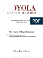 The origins of legal language