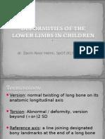 Deformitas Tungkai Bawah Dr Znh