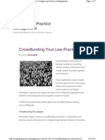 Crowdfunding Your Law Practice