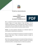 Ley General Educacion 66-97 domincanca