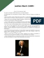 Biografía Johann Sebastian Bach