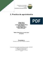 Informe de Agroindustria Quesos.