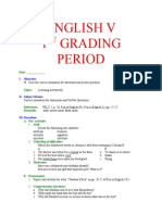 English v- 1st -4th Grading Period