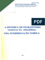 Homma, A. K. O. (1990). a Dinâmica Do Extrativismo Vegetal Na Amazônia Uma Interpretação Teórica.