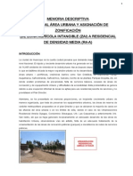 Memoria de Cambio Zonificacion-Solo Agricola