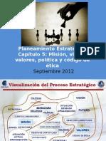 PE Mision Vision Valores Políticas Código de Ética.ppt