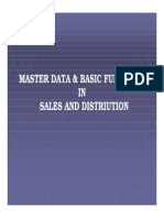 MASTER DATA & BASIC FUNCTIONS IN SALES AND DISTRIUTION