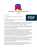 8th CD Republicans Letter to Keith Downey - June 2, 2015