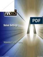 Ansys fluent Solver Settings