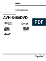 Avh-5450dvd Operating Manual - Esp
