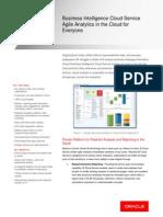 Oracle Business Intelligence Cloud Service DataSheet