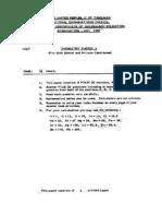 NECTA ''A Level'' Chemistry P.1 (1990)