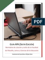 GUÍA APA (SEXTA EDICIÓN)