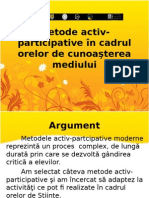 Medode Interactive in Cadrul Orelor de Stiinte