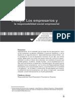 Los Empresarios y La Responsabilidad Social Empresarial