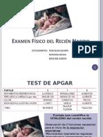 examen físico recién nacido
