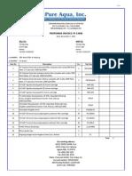 Pure Aqua (2013). Profoma Invoice 2013 PI-13098 Tervap Ltda