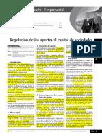 Regulación de Aportes Al Capital de Sociedades