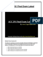 ACC 291 Final Exam Latest UOP Materials
