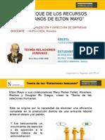 Enfoque de Relaciones Humanas - Elton Mayo - Grupo Los Estrategas