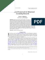 Behavioral Accounting Research Framework
