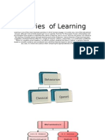 theories of learnign