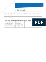 Pricing Strategy Worksheet