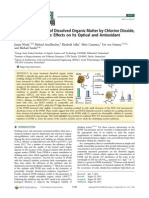 Chemical Oxidation of Dissolved Organic Matter by Chlorine Dioxide,