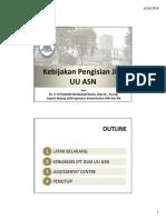 Bahan Deputi Sdm Aparatur Sosialisasi Permenpan 13-2014 Surabaya 26 Juni 2014