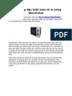Tính năng đặc biệt trên lò Vi Sóng Electrolux