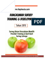 Rangkuman Training & Development Survey Tahun 2015