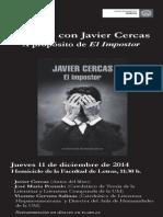 Programa Javier Cercas