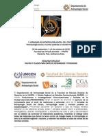 II Circular v Jornadas de Antropologa Social Del Centro