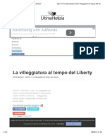 4.5.2015, 'La Villeggiatura Al Tempo Del Liberty', Ultima Notizia