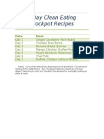 7 day clean eating crockpot recipes