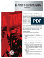 NFPA 70E 2015 Sales Sheet