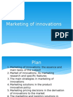 Marketing of Innovations