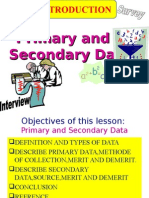 primary data and secondary data